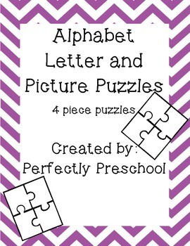 Alphabet Letter and Picture Puzzles