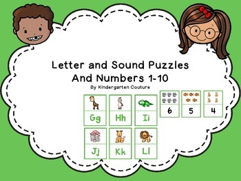 Alphabet Letter and Sound Matching Puzzles (Animal Theme)