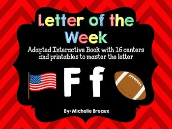 Alphabet Letter of the Week--Letter F Adapted book & More