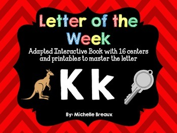Alphabet Letter of the Week--Letter K Adapted book & More