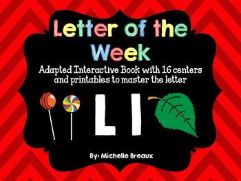 Alphabet Letter of the Week--Letter L Adapted book & More