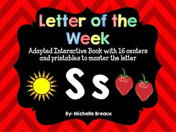 Alphabet Letter of the Week--Letter S Adapted book & More
