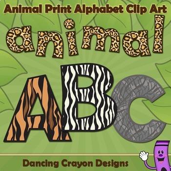 Alphabet Letters: Animal Print Alphabet Clip Art
