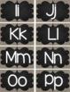 Alphabet Letters {Burlap & Chalk Background} Freebie