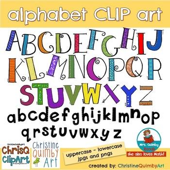 Alphabet Letters Clip Art- Chris Quimby Clip Art