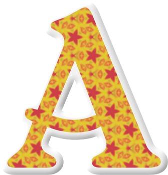 Alphabet Letters: Clipart  {Puffy Sticker - Set 002} COMME
