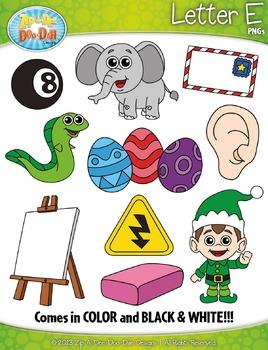 Alphabet Letters E Clipart Set — Includes 20 Graphics!