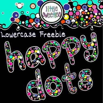 Alphabet/Letters/Font Happy Dots Freebie