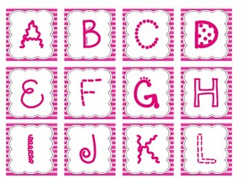 Alphabet Letters - Small Pink