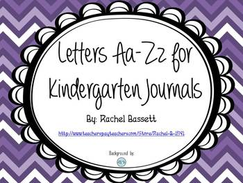 Alphabet Letters for Journals - Letters A-Z