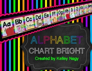 Alphabet Letters for Wall - Bright Colors