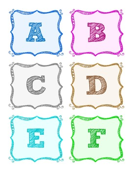 Alphabet Letters for Word Wall--Art--General