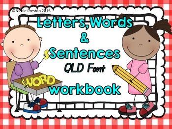 Alphabet Letters, sounds, words and sentences workbook.