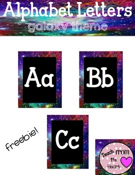 Alphabet Letters ( space/galaxy theme)