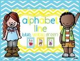 Alphabet Line - Blue, Yellow, Green Style