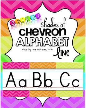 Alphabet Line - Bright Shades of Chevron