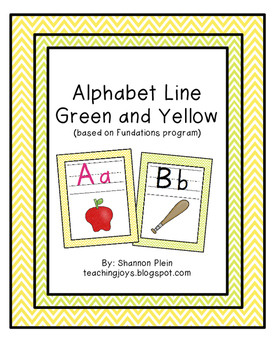 Alphabet Line Lime Green and Yellow