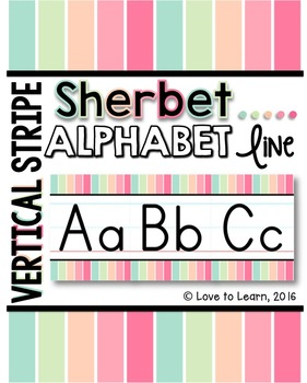 Alphabet Line - Sherbet Vertical Stripes