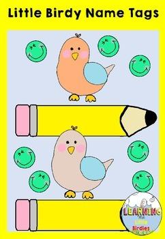 Little Birdy Name Tags - FREEBIE