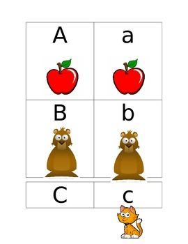 Alphabet Match Center with Pictures