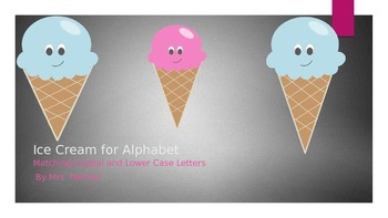 Alphabet Match : Ice Cream for Alphabet!