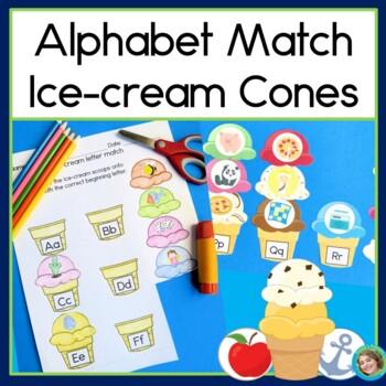 Alphabet Match Ice-cream Cones