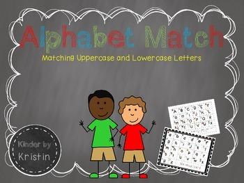 Alphabet Match - Kinder by Kristin