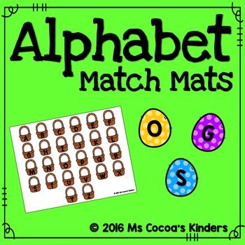 Alphabet Match Mats - Spring Baskets