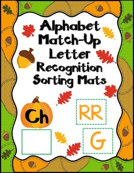 Alphabet Match-Up:  Fall Letter Recognition Sorting Mats f