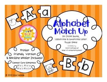Alphabet Match Up Puzzle