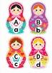 Alphabet Match - Russian Nesting Dolls