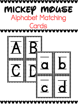 Alphabet Matching Cards - ABC Letters Task Card Game - Mic