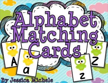Alphabet Matching Cards {Owl Theme}