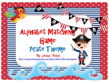 Talk Like a Pirate Alphabet Matching Game