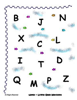 Alphabet Matching  Upper - Lower Case Reading Center - Pre