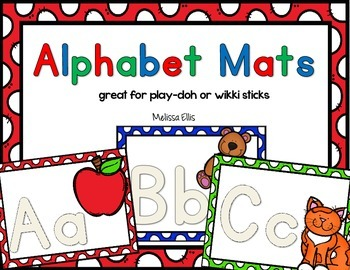 Word Work for Little People:  Play-doh Alphabet Mats