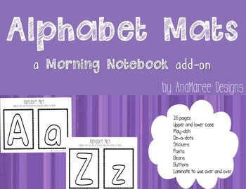 Alphabet Mats for tracing, do-a-dots, play-doh. Upper and