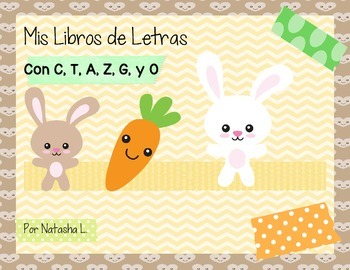 Alphabet Mini Booklets Spanish Set #1 (Featuring A, C, G,