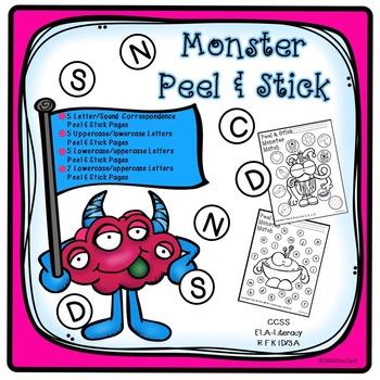 Alphabet Monster Peel & Stick