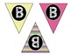 Alphabet & Number Bunting Banner - Classroom Decor - Small
