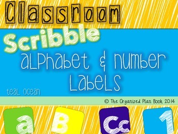 Alphabet & Number Classroom Labels (Teal Ocean)
