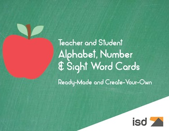 Alphabet, Number & Sight Word Cards K-1 TE