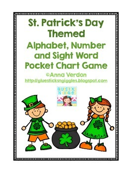 Alphabet, Number and Sight Word Pocket Chart Game (St. Pat