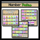 Alphabet, Number, and Word Wall Bundle:  Neon and Black