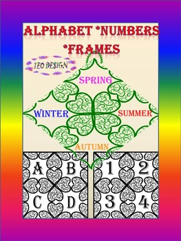 Alphabet - Numbers - Frames - Personal or Commercial Use