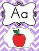 Alphabet, Numbers, & Word Wall Posters in Purple, Green, O