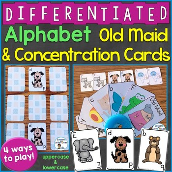 Alphabet Old Maid & Concentration Cards (Uppercase & Lower