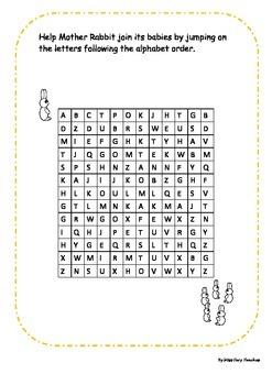Alphabetical Order Maze FREE