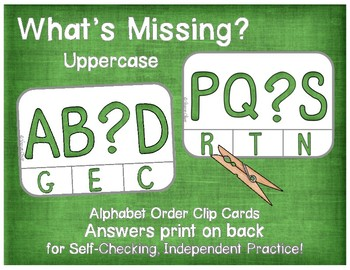 Alphabet Order:  What's Missing?  Uppercase