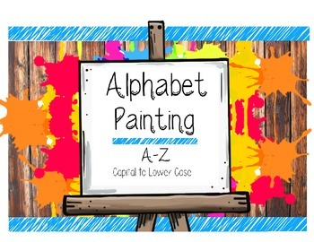 Alphabet Painting Letter Recognition & Writing Worksheet C